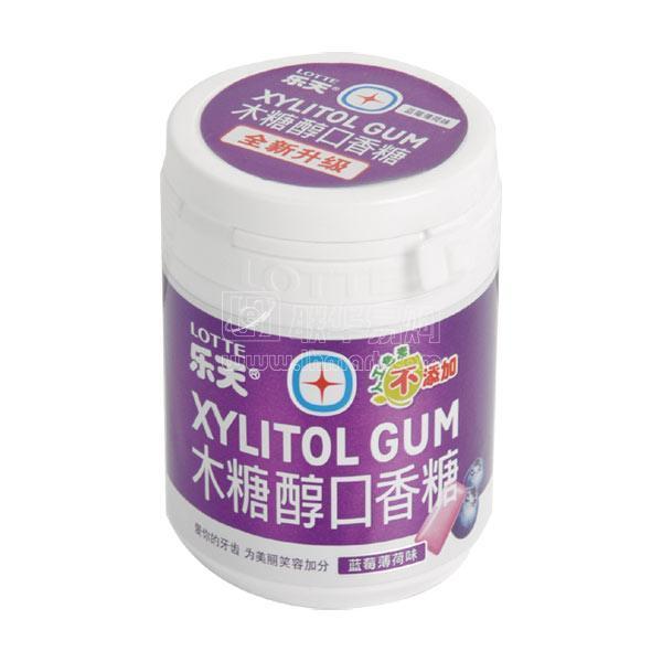商品名称: 乐天蓝莓薄荷味木糖醇口香糖 商品品牌: 乐天 规格重量