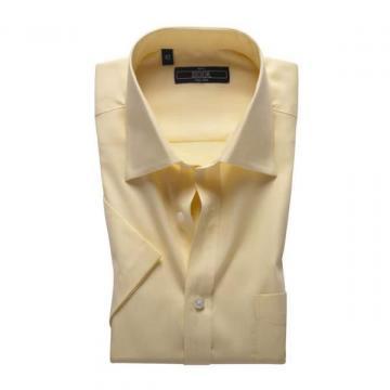 kool时尚男装 纯色条纹商务休闲短袖衬衫男正装衬衫131001032米白