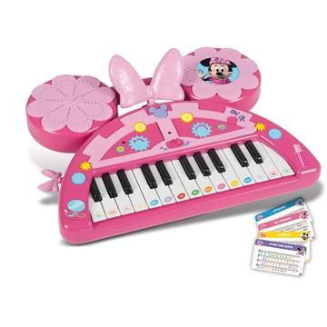 迪士尼正品米老鼠系列米妮造型儿童玩具可录音电子琴